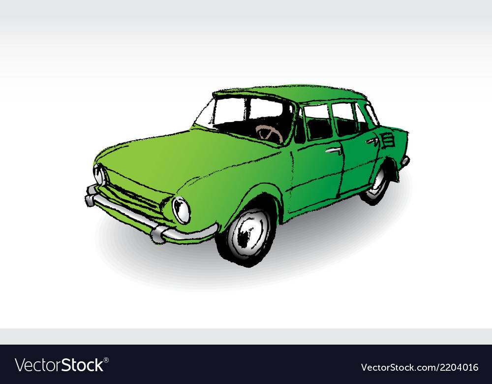 Oldtimer skoda 100 vector | Price: 1 Credit (USD $1)