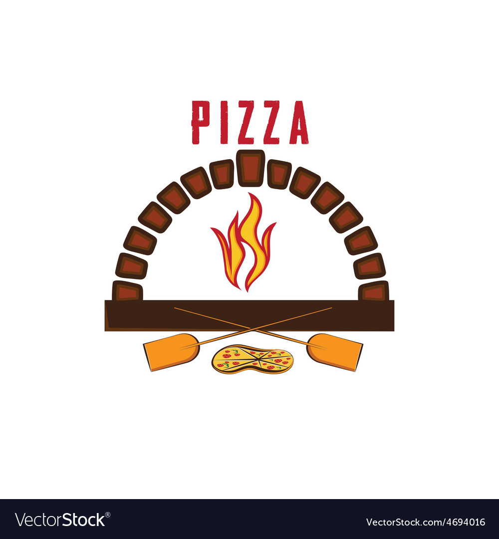 Oven with pizza vector | Price: 1 Credit (USD $1)
