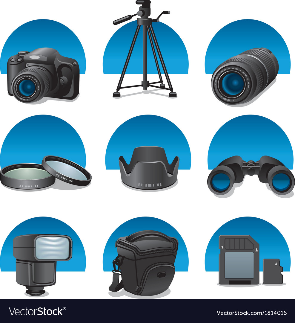 Photo accessories vector | Price: 1 Credit (USD $1)
