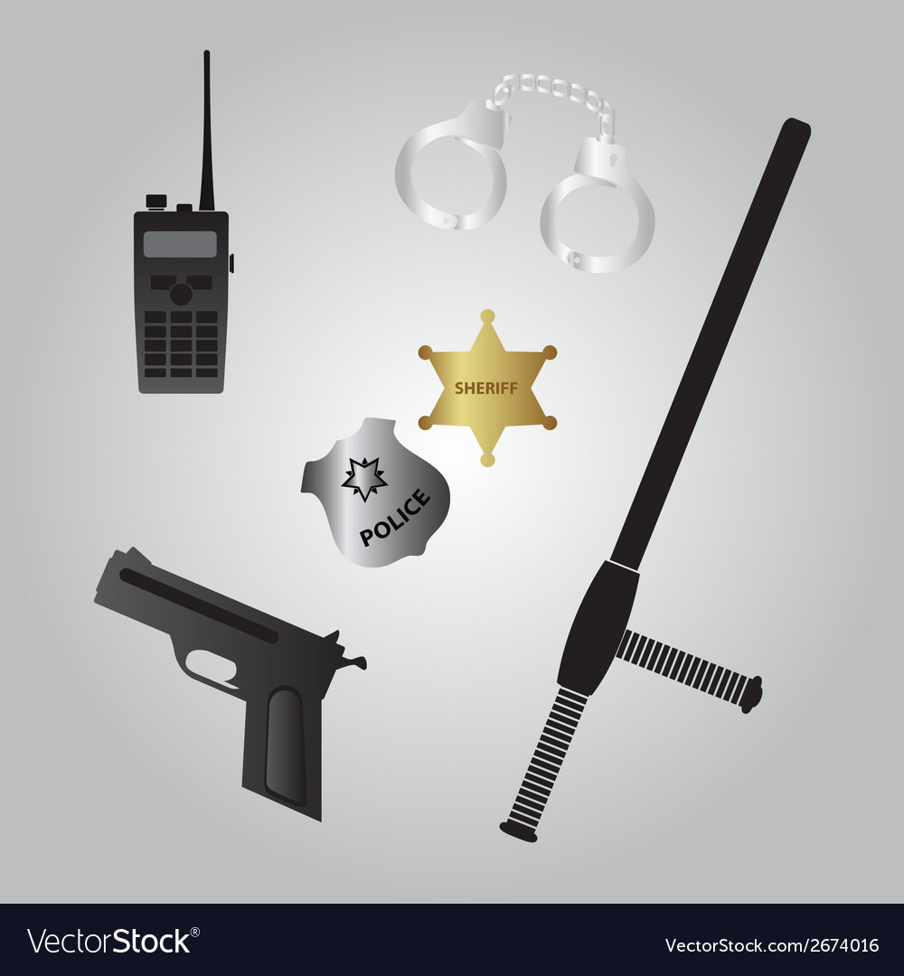 Police equipment icon eps10 vector | Price: 1 Credit (USD $1)