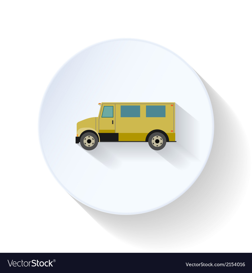 Postal vehicle flat icon vector | Price: 1 Credit (USD $1)