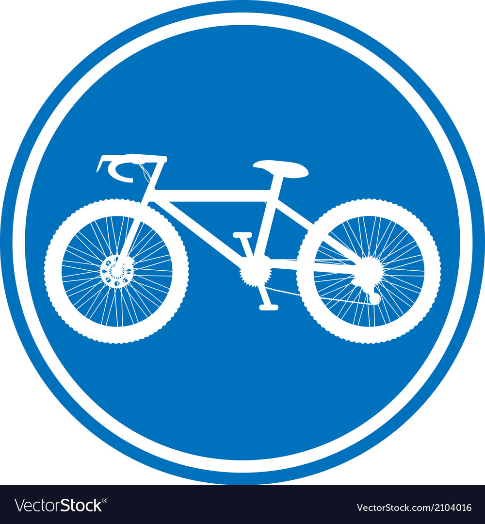 Round bicycle lane sign vector | Price: 1 Credit (USD $1)