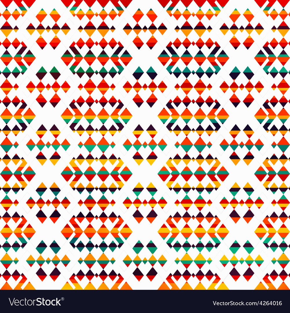 Sunny geometric seamless pattern vector | Price: 1 Credit (USD $1)