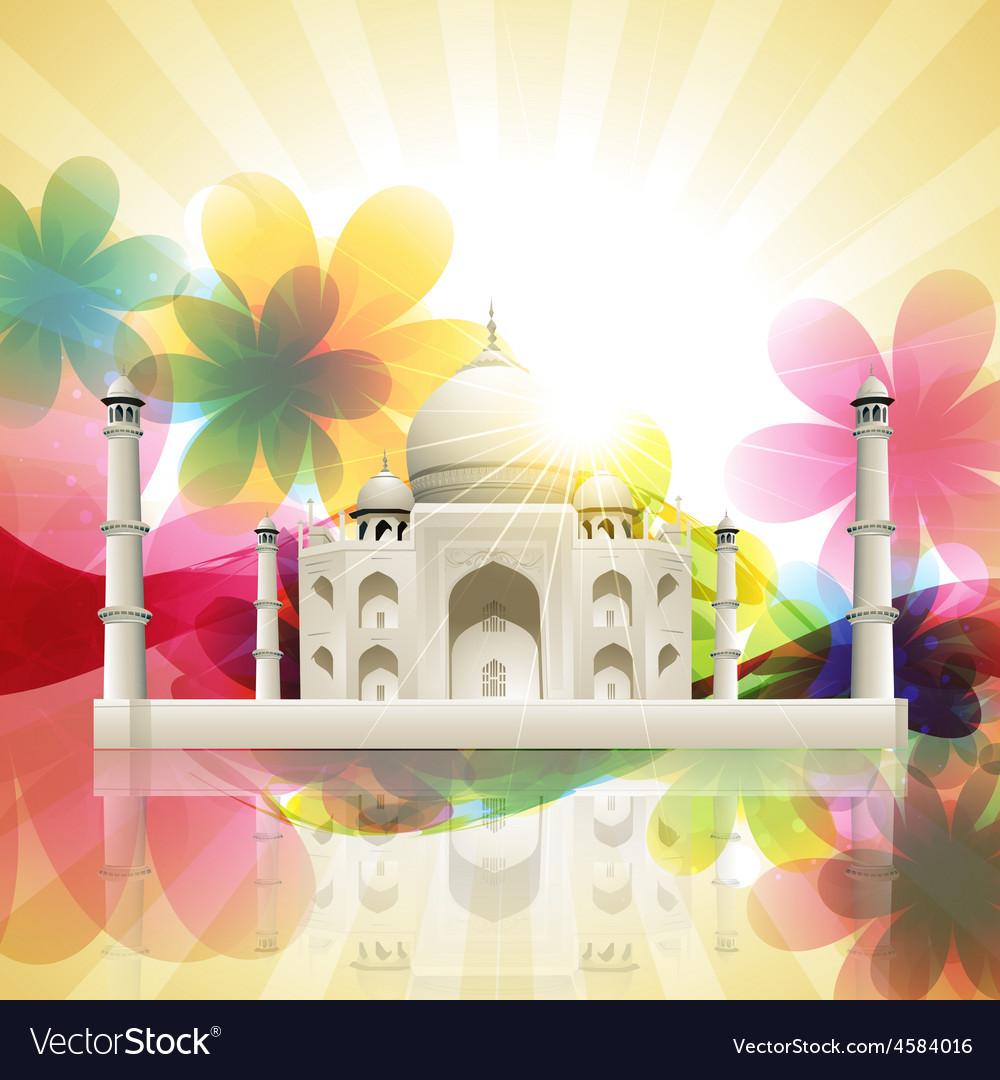 Taj mahal vector | Price: 3 Credit (USD $3)
