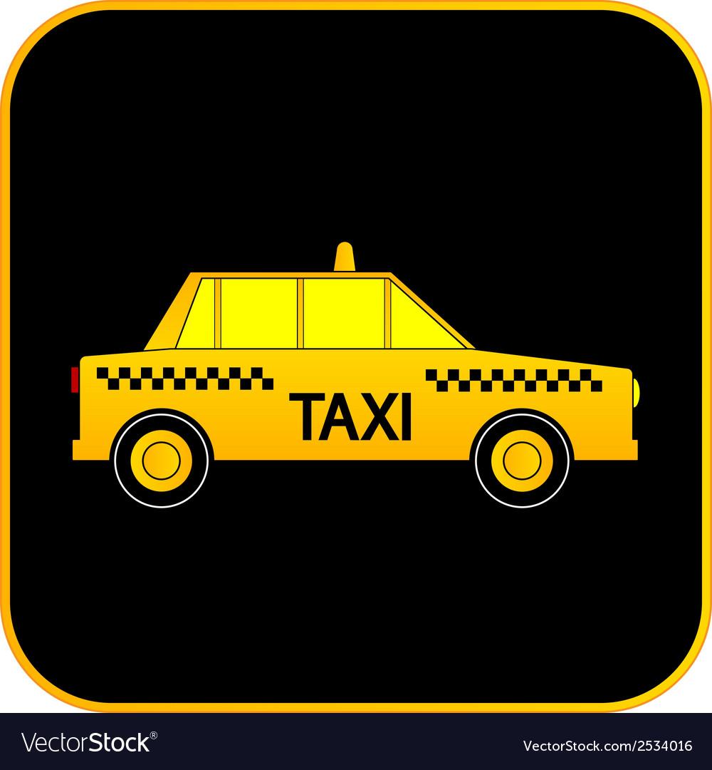 Taxi car button vector | Price: 1 Credit (USD $1)