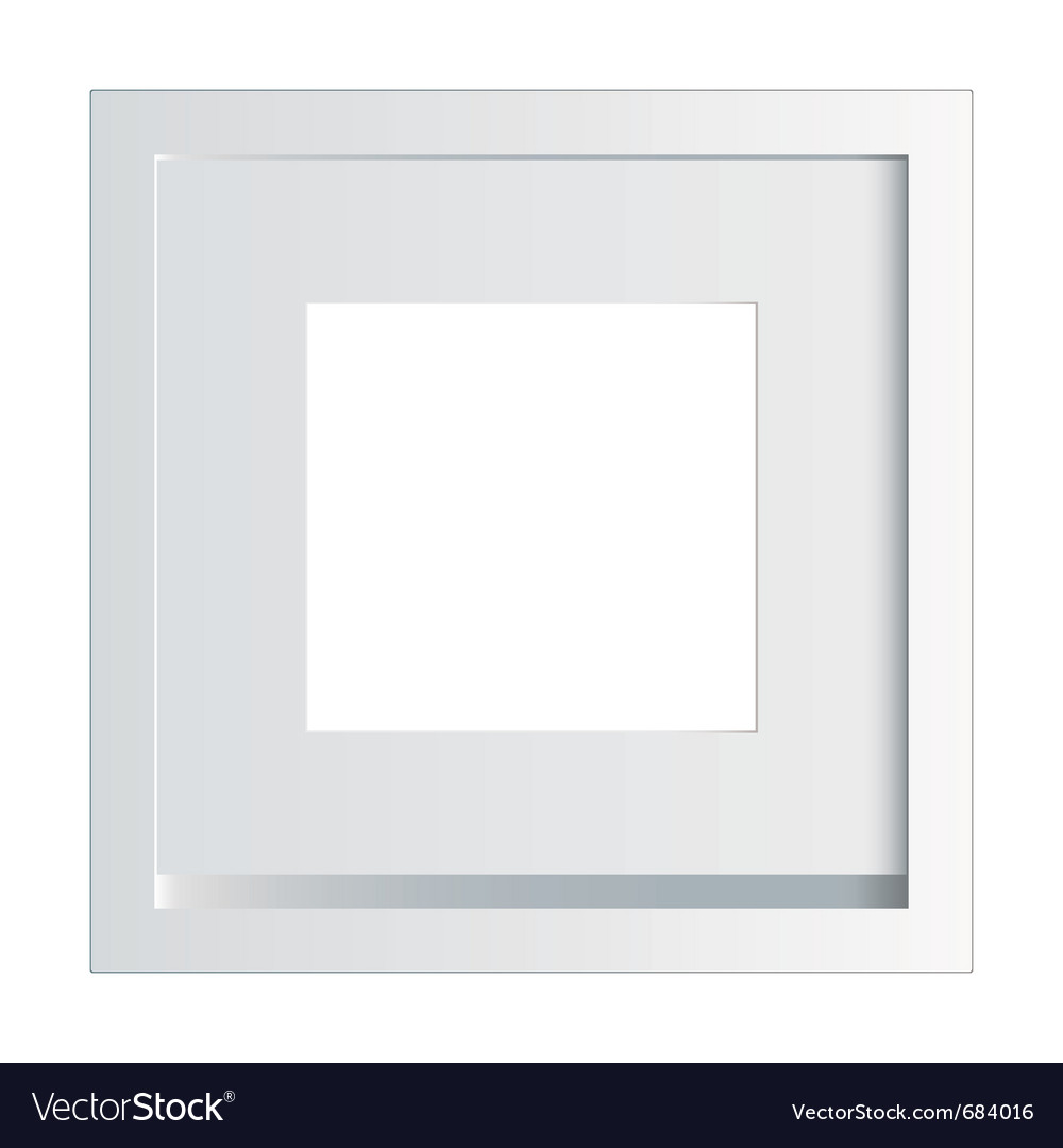 White picture or photo frame vector | Price: 1 Credit (USD $1)