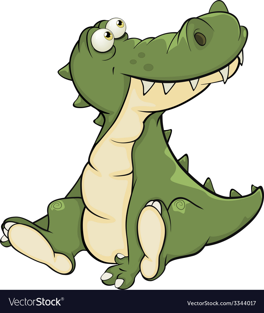 Crocodile cartoon vector | Price: 1 Credit (USD $1)