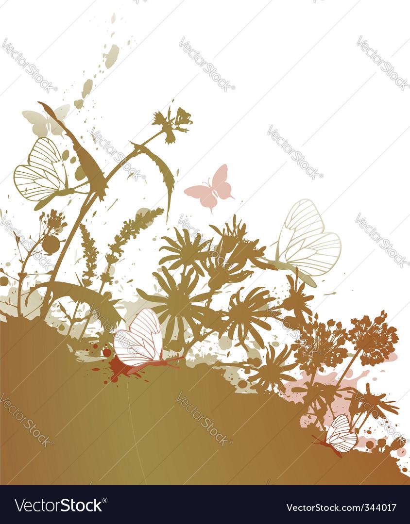 Grunge floral background vector | Price: 1 Credit (USD $1)