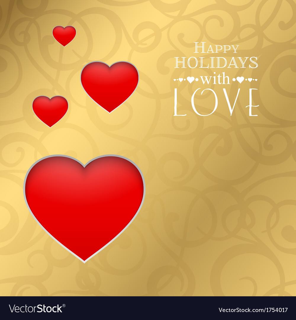 Happy valentine heart vector | Price: 1 Credit (USD $1)
