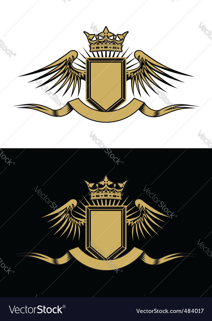 Heraldry design vector | Price: 1 Credit (USD $1)