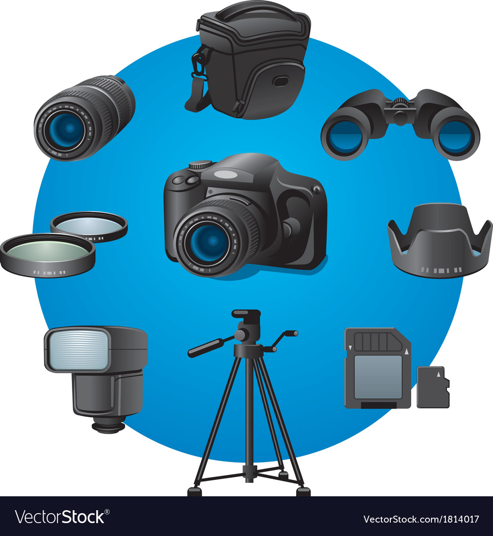 Photo devices vector | Price: 1 Credit (USD $1)