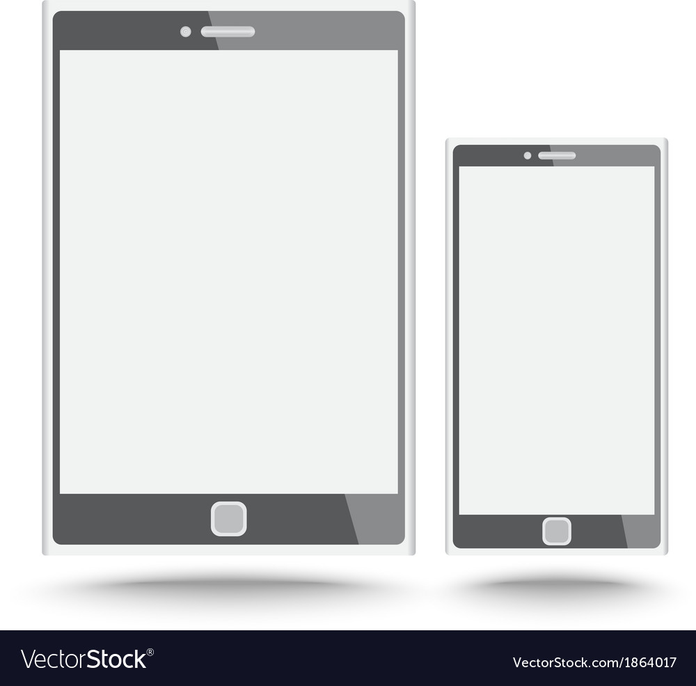 Smart phone and tablet vector | Price: 1 Credit (USD $1)
