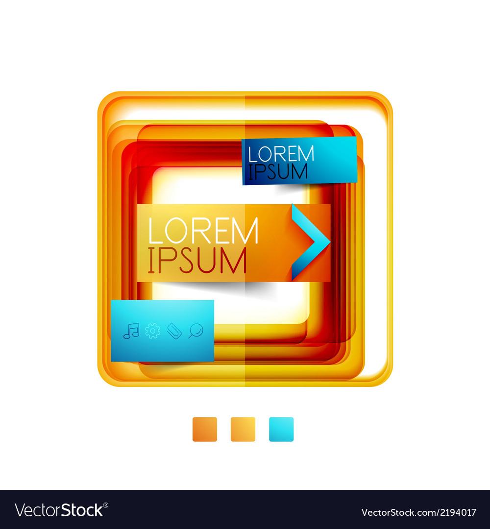 Square web design boxes - vector | Price: 1 Credit (USD $1)