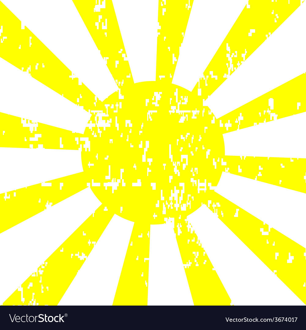 Sun background with grunge effect vector | Price: 1 Credit (USD $1)