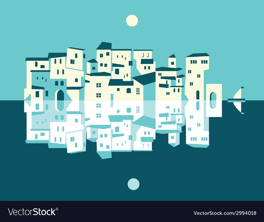 Asian city set vector | Price: 1 Credit (USD $1)
