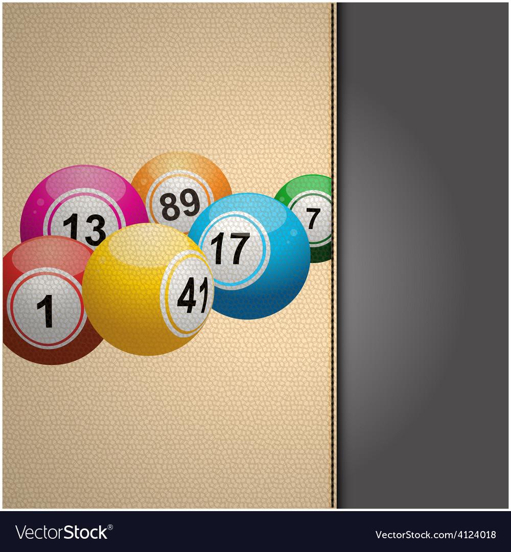 Bingo agenda on cream leather vector | Price: 1 Credit (USD $1)