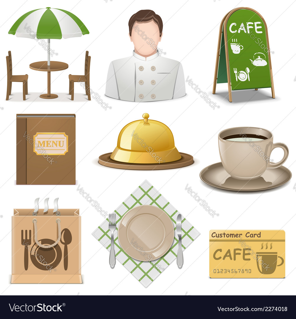 Cafe icons vector | Price: 1 Credit (USD $1)