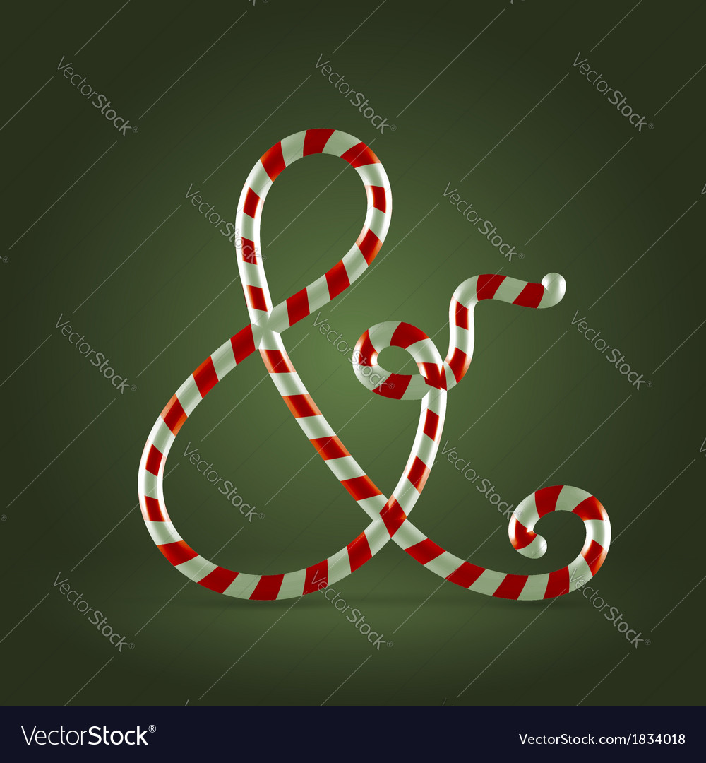 Candy cane abc ampersand vector | Price:  Credit (USD $)