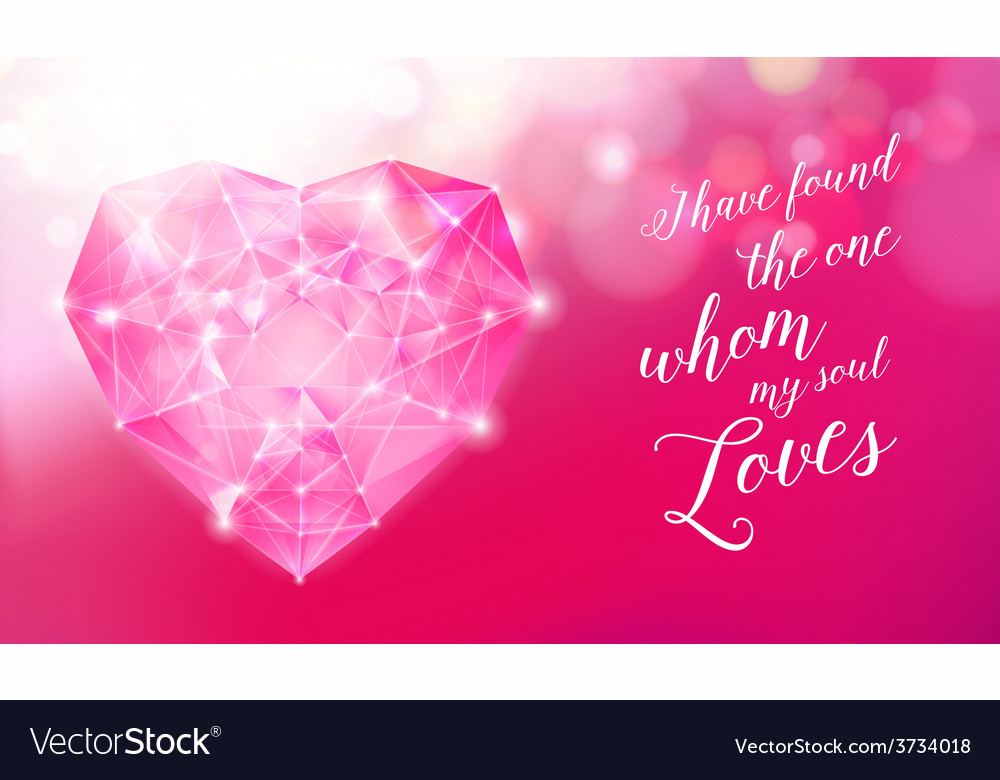 Diamond heart for your design vector | Price: 1 Credit (USD $1)
