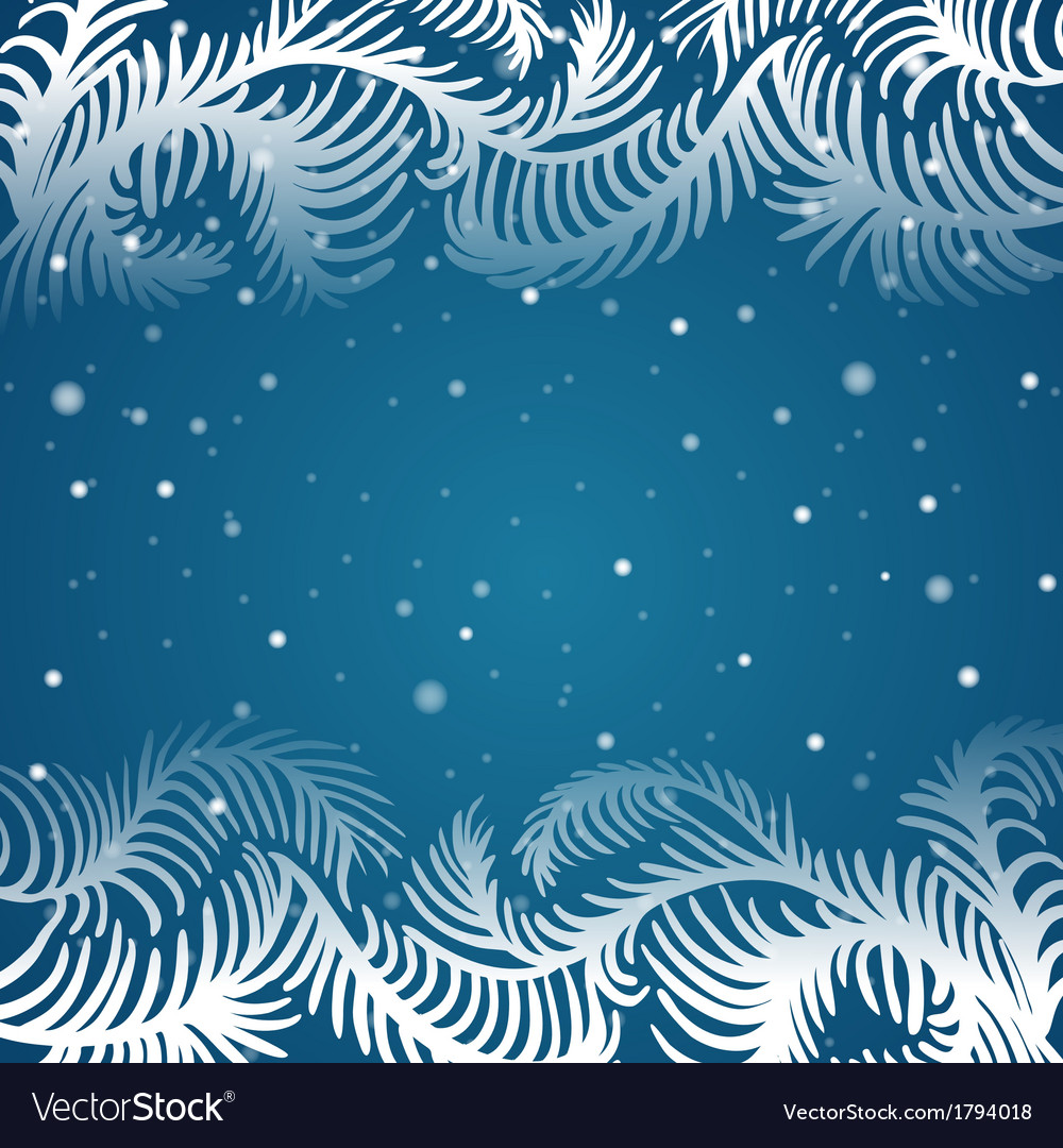 Frame of frosty pattern vector   Price: 1 Credit (USD $1)