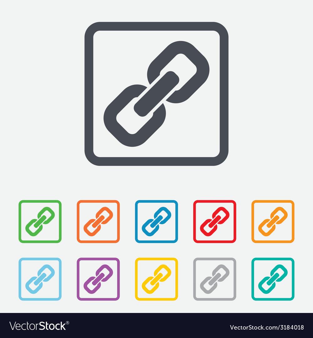 Link sign icon hyperlink symbol vector | Price: 1 Credit (USD $1)