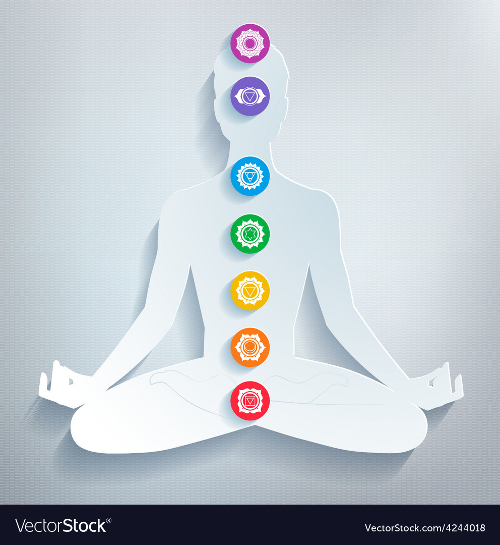Meditation and chakras vector | Price: 1 Credit (USD $1)