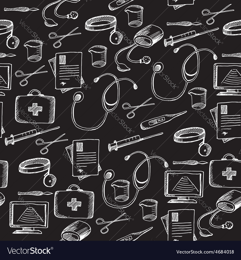 Seamless pattern background medical equipment vector   Price: 1 Credit (USD $1)