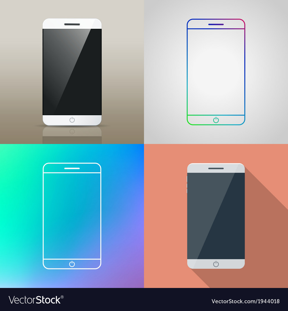 Set of smartphone icon vector | Price: 1 Credit (USD $1)