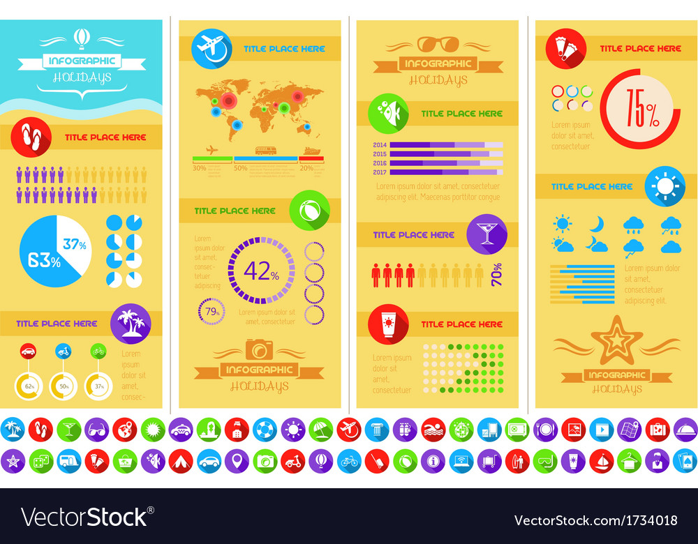 Travel infographic template vector | Price: 1 Credit (USD $1)