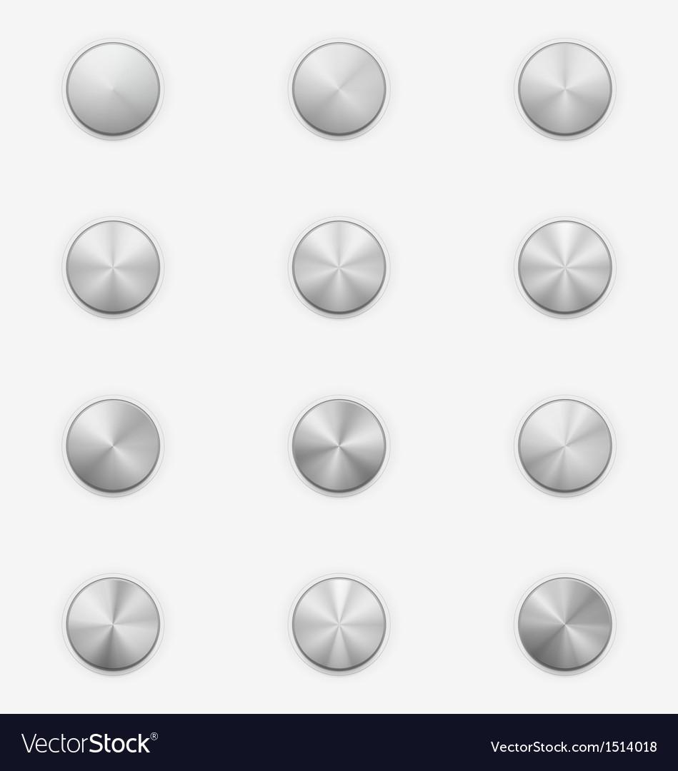Volume knobs music controls vector | Price: 1 Credit (USD $1)
