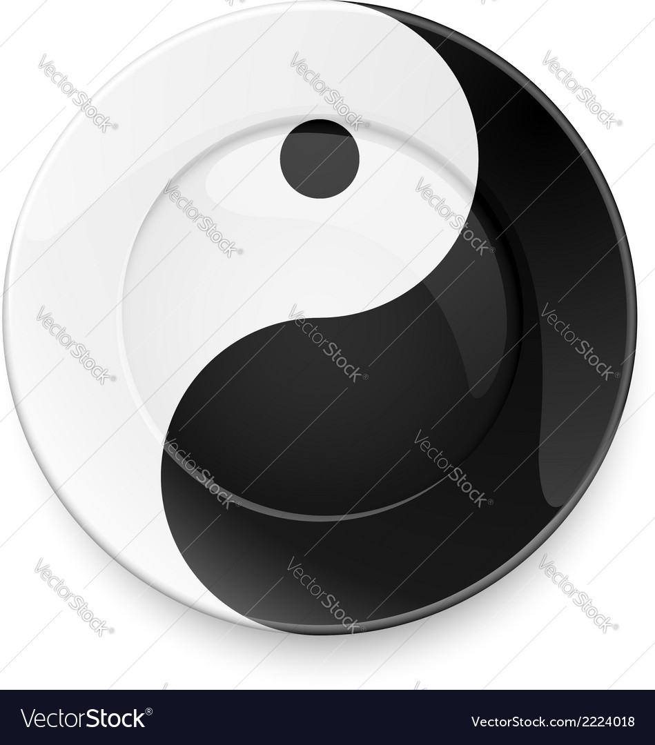 Yin yang plate vector | Price: 1 Credit (USD $1)