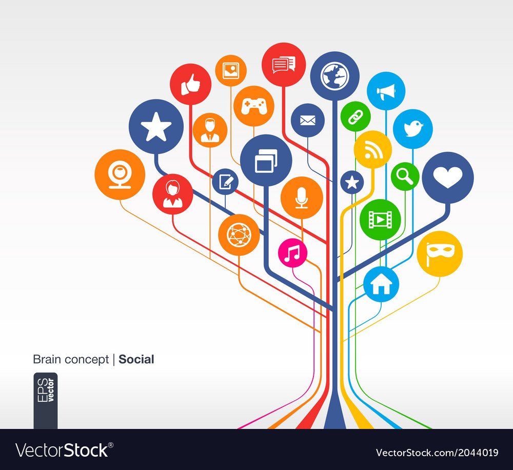 Abstract social media background vector | Price: 1 Credit (USD $1)