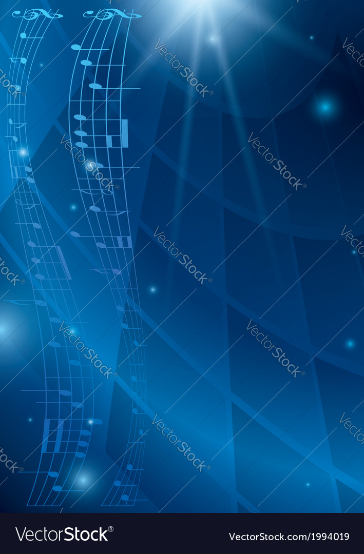 Abstract vertical music background - blue flyer vector | Price: 1 Credit (USD $1)