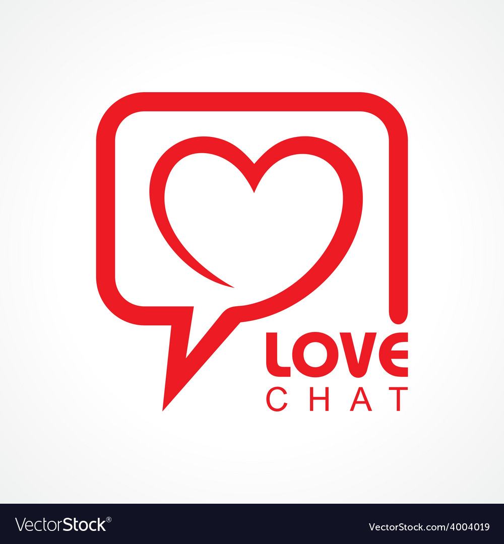 Chat for love concept stock vector | Price: 1 Credit (USD $1)