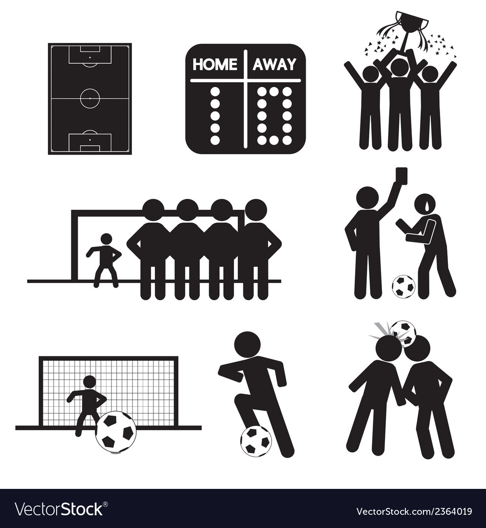 Football or soccer icons vector | Price: 1 Credit (USD $1)