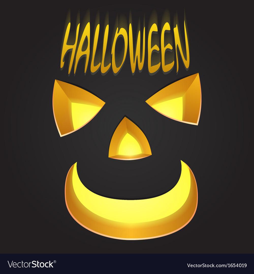 Halloween pumpkin face vector   Price: 1 Credit (USD $1)