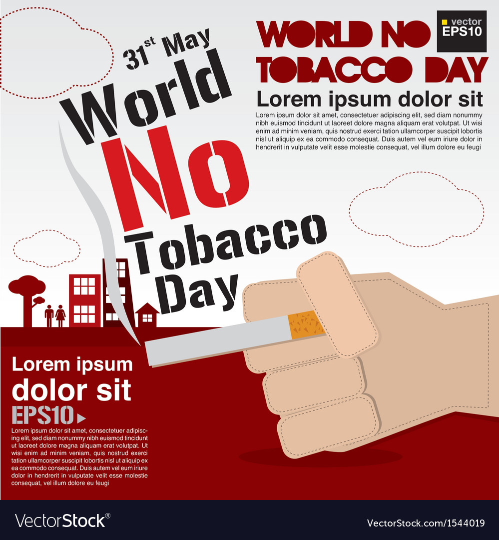 May 31st world no tobacco day vector | Price: 1 Credit (USD $1)