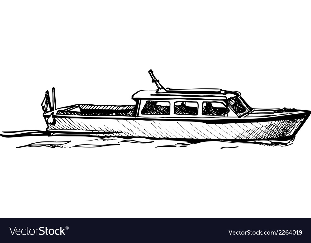 Motor boat vector | Price: 1 Credit (USD $1)