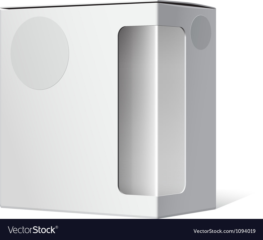 Package box with a transparent plastic window vector | Price: 1 Credit (USD $1)