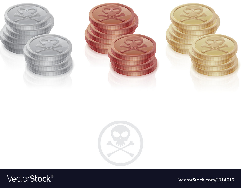 Pirate coins two columns vector | Price: 1 Credit (USD $1)