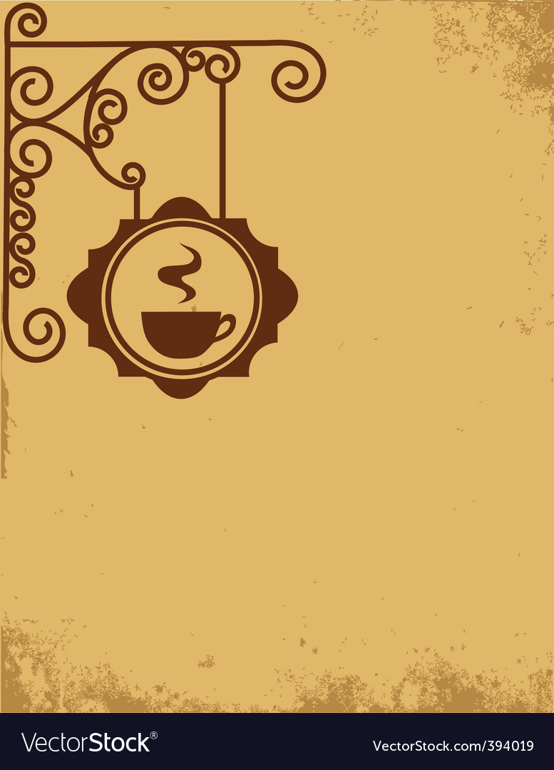 Vintage cafe wall sign vector | Price: 1 Credit (USD $1)