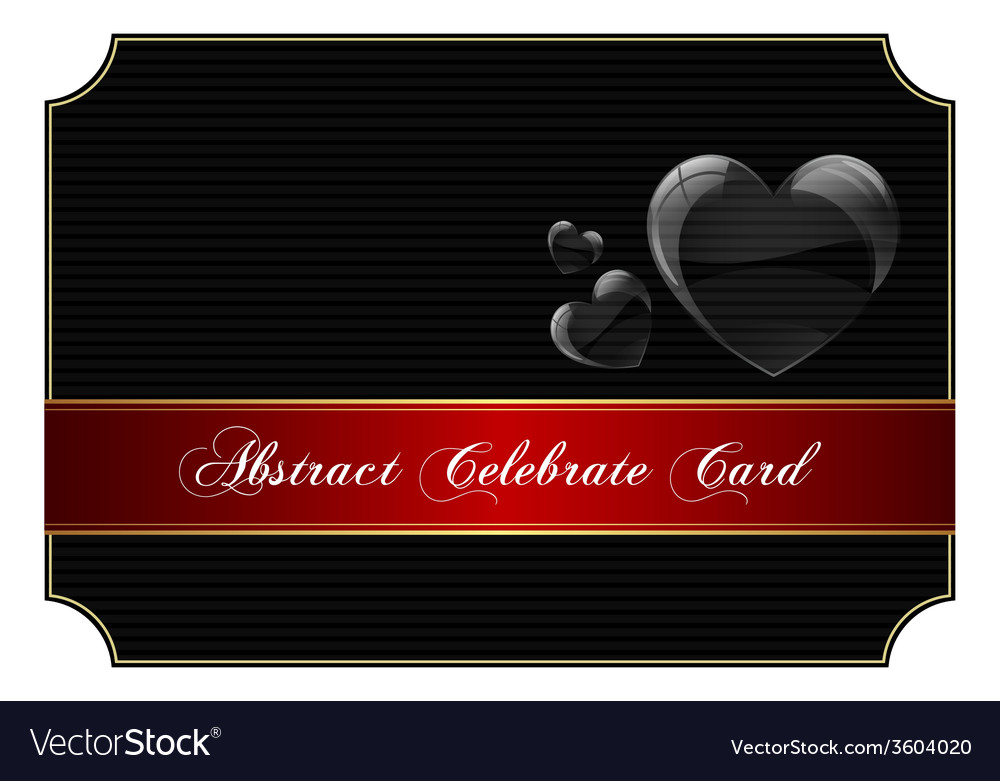 Abstract black celebrate card vector | Price: 1 Credit (USD $1)