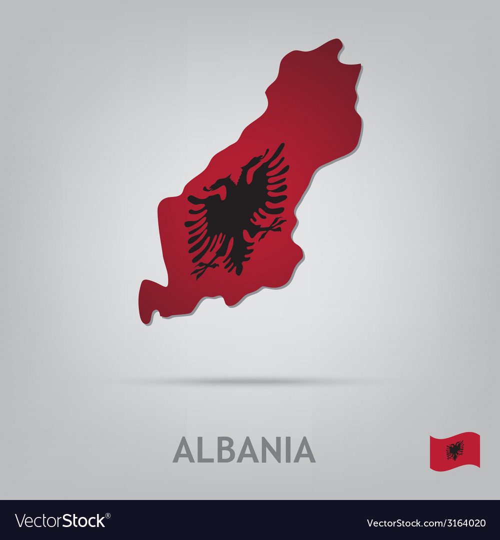 Albania vector | Price: 1 Credit (USD $1)