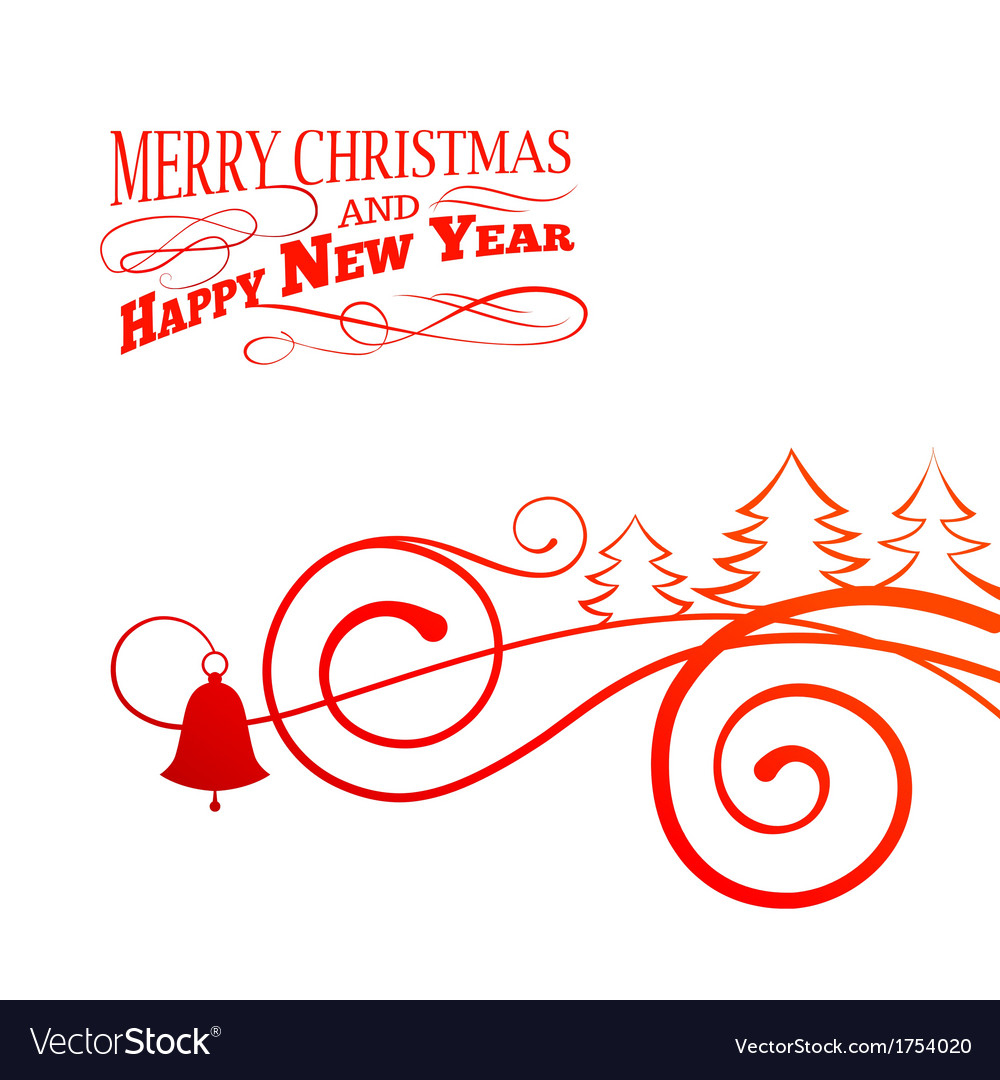 Christmas curving sign vector | Price: 1 Credit (USD $1)