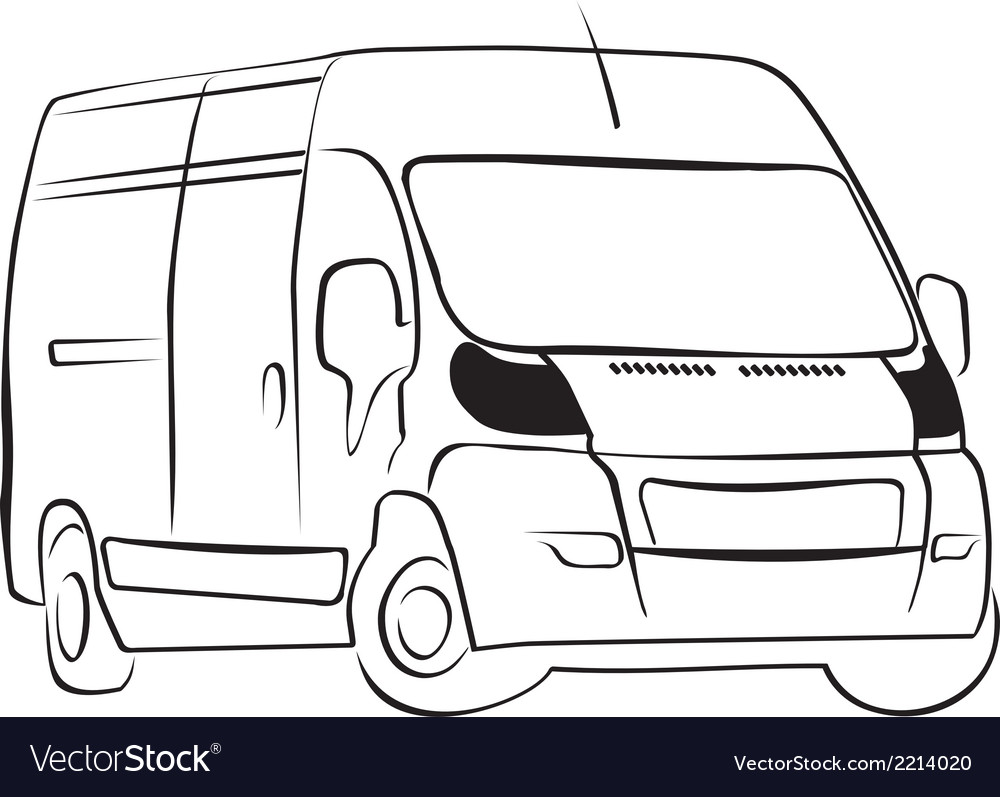 Delivery-van vector | Price: 1 Credit (USD $1)