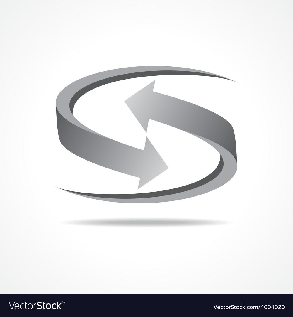Grey business arrow icon stock vector | Price: 1 Credit (USD $1)