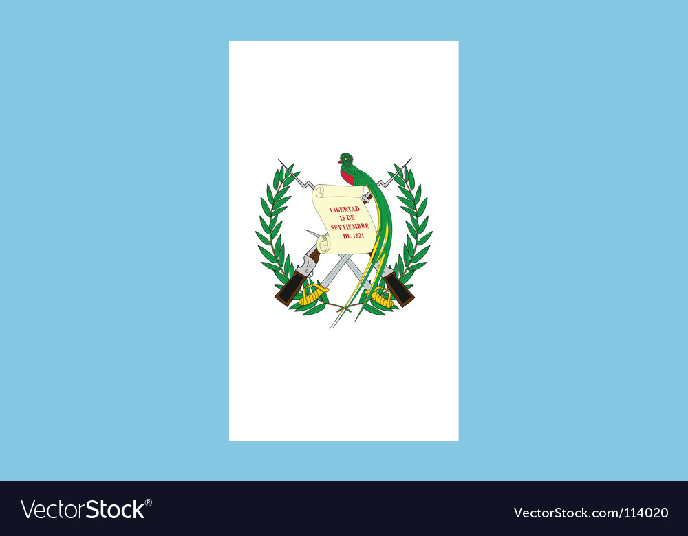 Guatemala flag vector | Price: 1 Credit (USD $1)