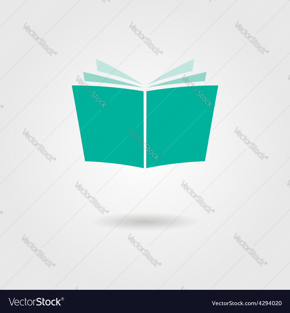 Journal icon with shadow vector | Price: 1 Credit (USD $1)