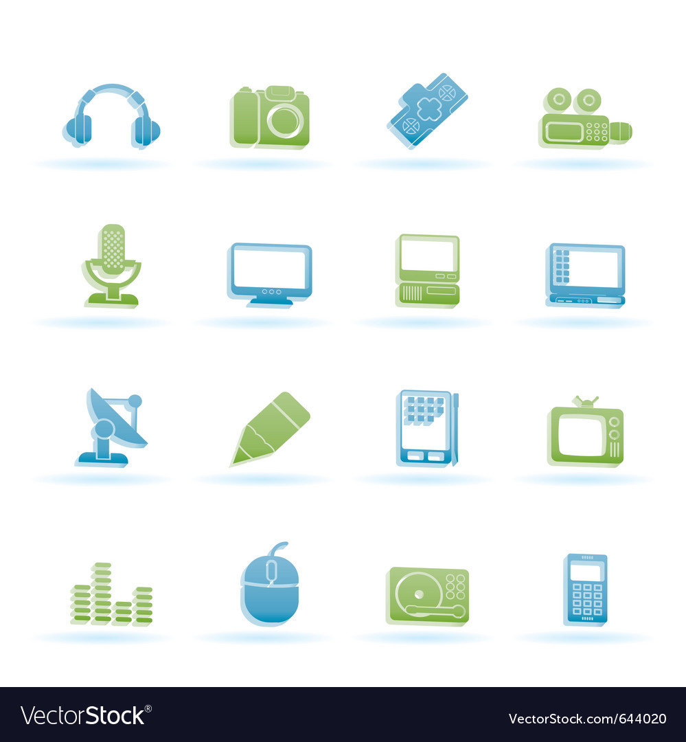 Media equipment icons vector   Price: 1 Credit (USD $1)