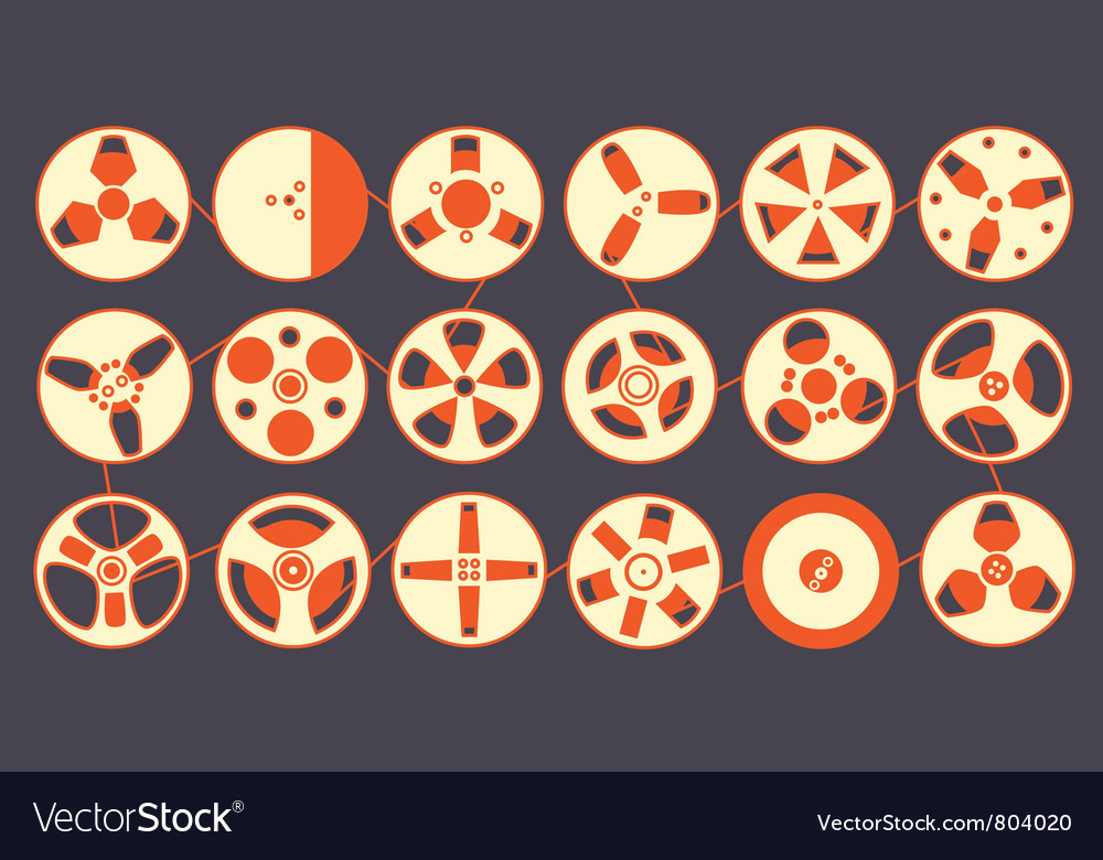 Recording reels vector | Price: 1 Credit (USD $1)